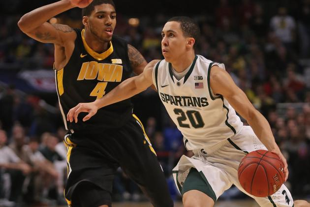 Mich. St. Rallies, Tops Iowa in Big Ten Quarters
