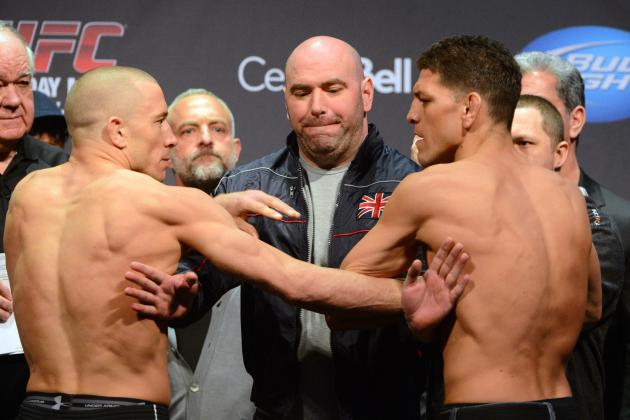 GSP vs. Diaz: Video Highlights from the UFC 158 Weigh-Ins