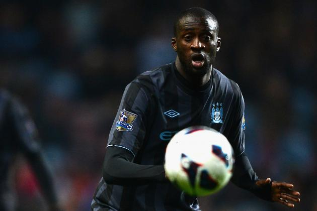 Yaya Toure Out Today vs. Everton Due to Illness