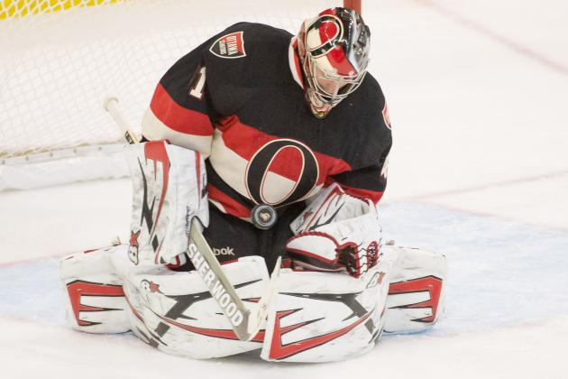 Craig Anderson Tests Injured Ankle During Light Skate