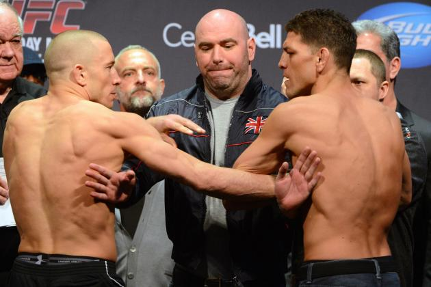 GSP vs Diaz: Live Blog for UFC 158's Main Event