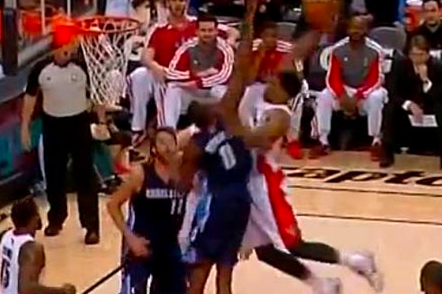 Rudy Gay's One-Handed Dunk on Bismack Biyombo