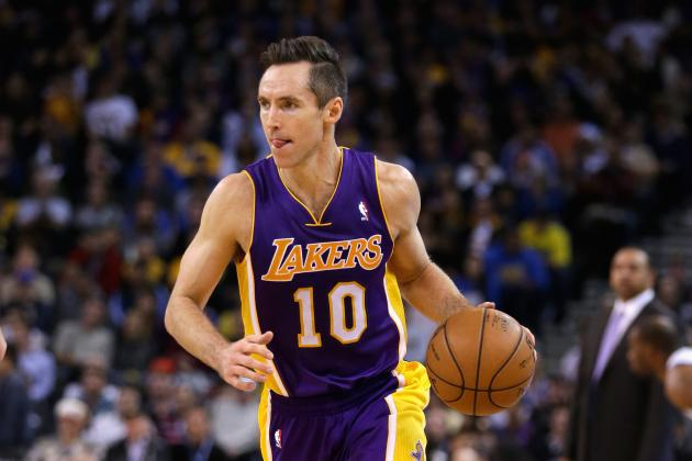 Steve Nash Plays Through Bruised Right Calf Against Indiana