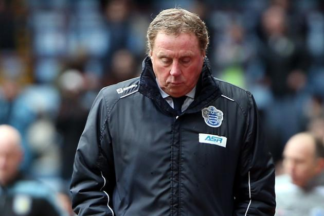 QPR Boss Harry Redknapp Unhappy After Seeing His Side Lose to Aston Villa