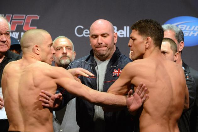 UFC 158 Weigh In: High Tension Before Bout Will Create Electric Fight Atmosphere