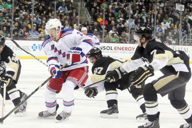 Pens Blank Rangers, 3-0, to Win 8th Straight