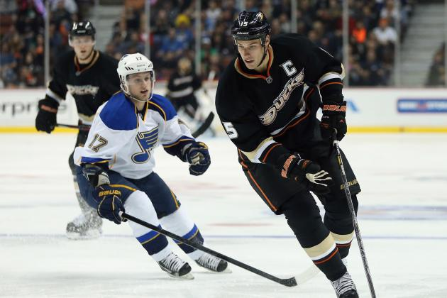Blues Win Third Straight, Cool off Ducks