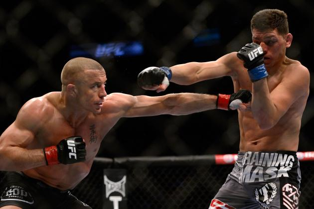 Georges St. Pierre vs. Nick Diaz Results: Round-by-Round Recap