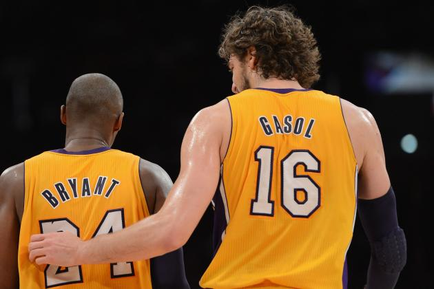 Lakers' Gasol Suffers Setback; Kobe Day to Day