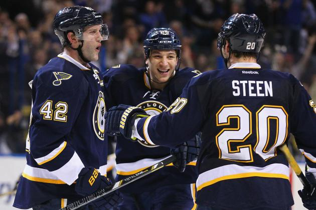Stewart's OT Goal Gives Blues Win over Ducks
