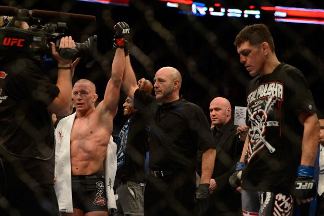 Best Opponents for Georges St-Pierre After Win over Nick Diaz at UFC 158