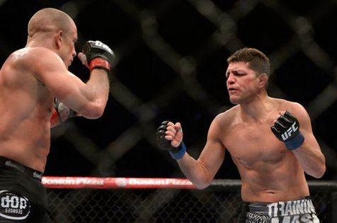 Nick Diaz Wants Rematch with Georges St. Pierre, Who Hits Like a Girl