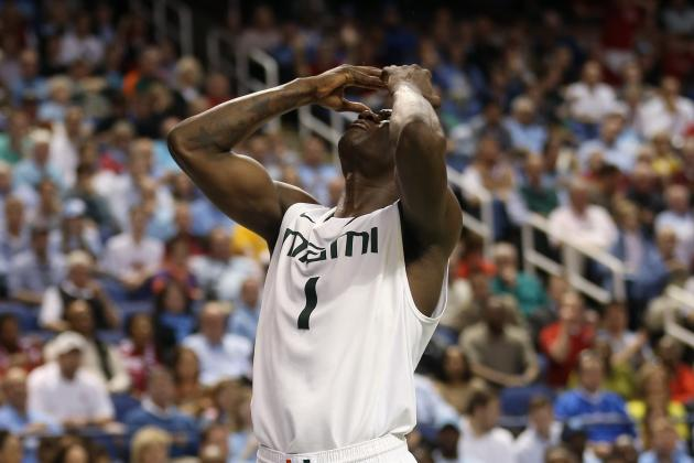 Miami's Durand Scott Injures Lower Back in Opening Minute of ACC Final