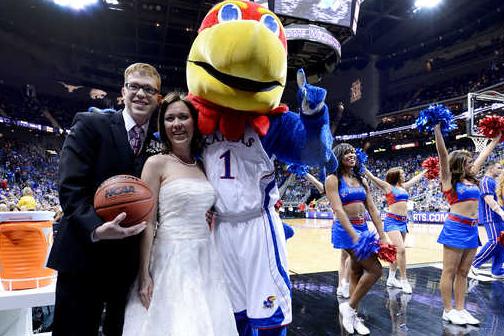 Kansas Basketball: Newlyweds at Big 12 Title Game