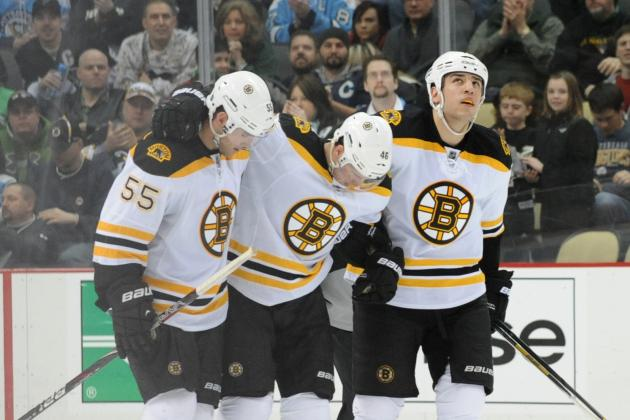 Video: David Krejci Felled by Johnny Boychuk Blast