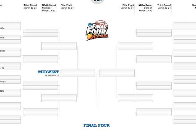 Interactive NCAA Tourney Bracket