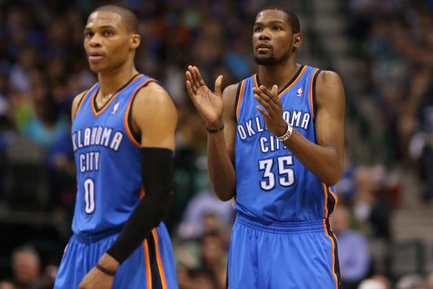 Durant and Westbrook Carry OKC over the Mavs, 107-101