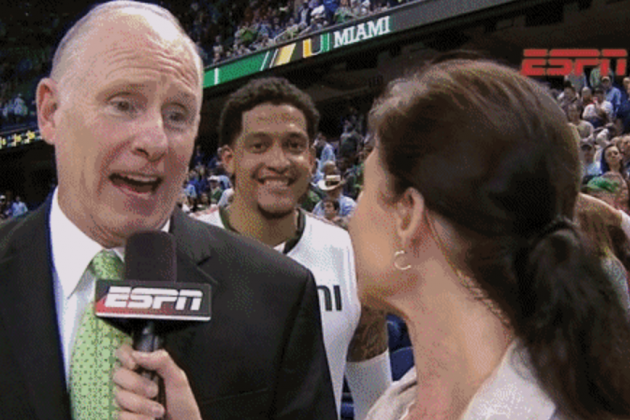 Miami Finishes Off ACC Tourney Championship Win with Photobomb