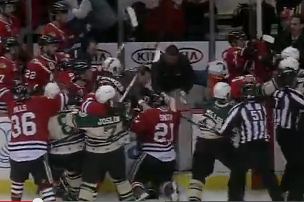 Video: Wild Bench Clearing Brawl Breaks Out in AHL