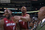 Watch Bosh Photobomb LeBron with Fake Punch