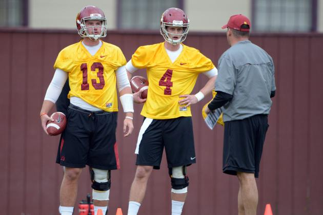 Trojans Still Seek Favorite at Quarterback