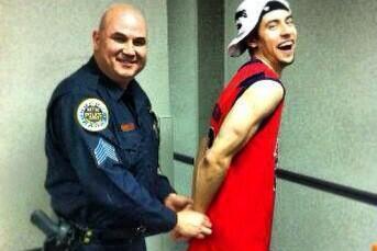 UM's Henderson Pretends to Get Arrested After SEC Tourney