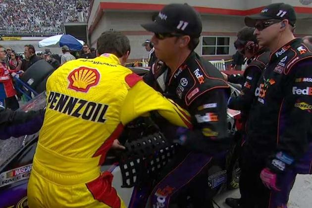 Denny Hamlin and Joey Logano Involved in War of Words