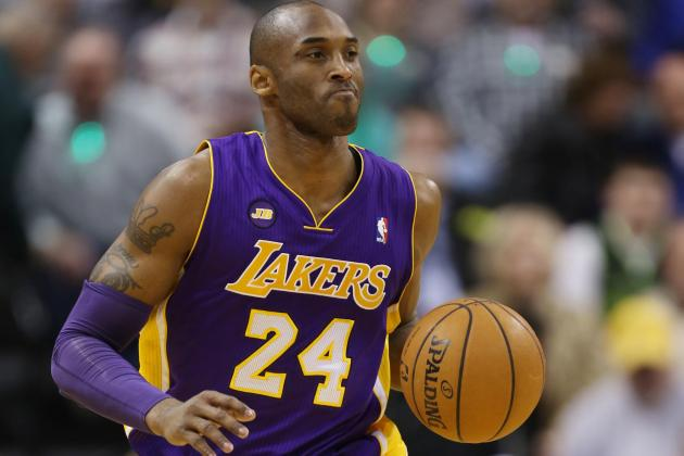 Kobe Bryant Out Monday Night vs. Suns