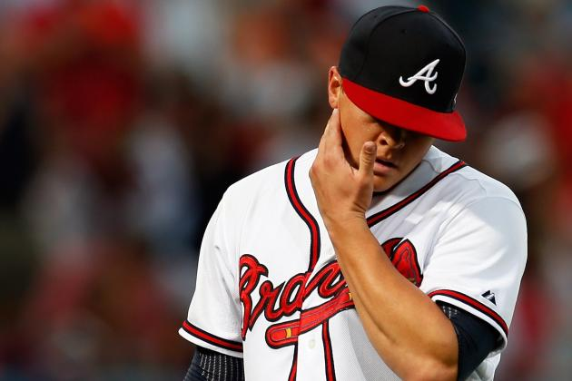 Medlen Upset After Giving Up 9 Runs to Phillies