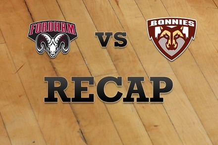 Fordham vs. St. Bonaventure: Recap, Stats, and Box Score