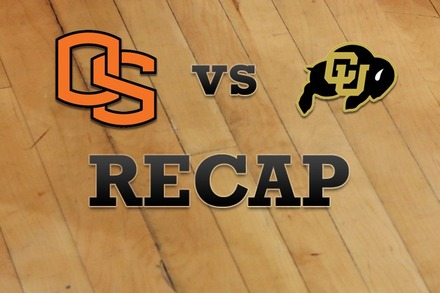 Oregon State vs. Colorado: Recap, Stats, and Box Score