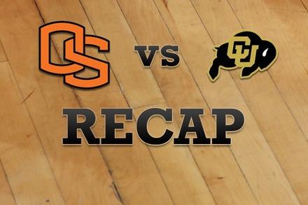 Oregon State vs. Colorado: Recap, Stats, and Box Score