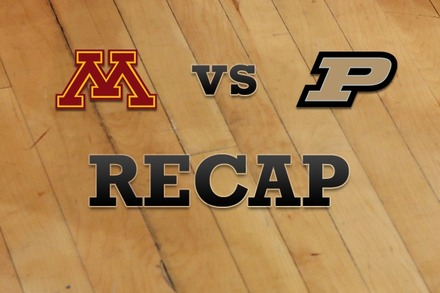 Minnesota vs. Purdue: Recap, Stats, and Box Score
