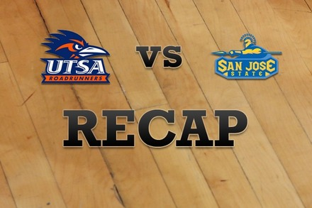 UTSA vs. San Jose State: Recap, Stats, and Box Score
