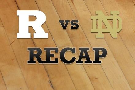 Rutgers vs. Notre Dame: Recap, Stats, and Box Score