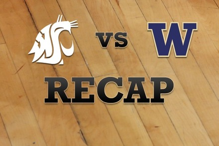 Washington State vs. Washington: Recap, Stats, and Box Score
