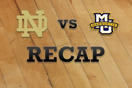 Notre Dame vs. Marquette: Recap, Stats, and Box Score