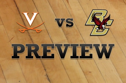 Virginia vs. Boston College: Full Game Preview