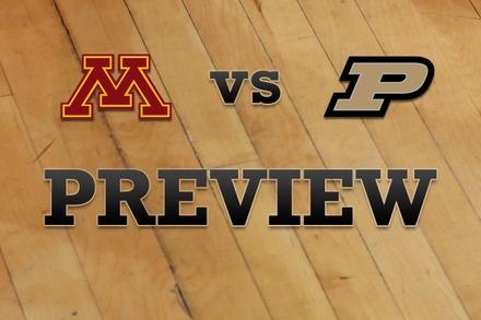 Minnesota vs. Purdue: Full Game Preview
