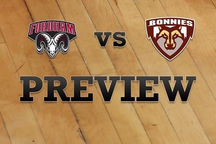 Fordham vs. St. Bonaventure: Full Game Preview