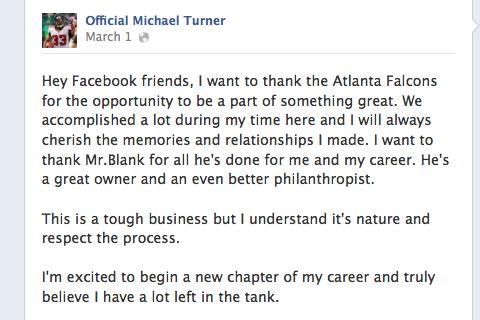 Atlanta Falcons' Steven Jackson Serves as Michael Turner's Replacement