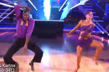 Jacoby Jones Does Ray Lewis' Squirrel Move On Dancing With The Stars