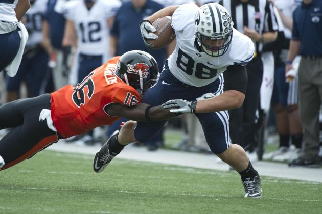 Converted BYU Tight End Holt Takes Approach of Former Teammate in Move to DL