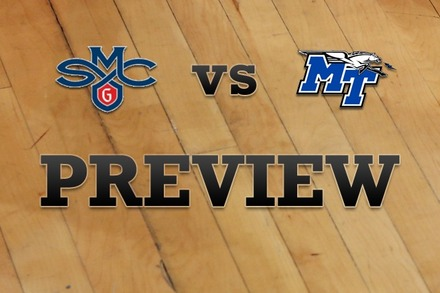 Saint Mary's vs. Middle Tenn State: Full Game Preview