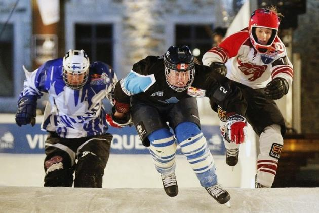 Women's Hockey Players Take First and Third at Red Bull Crashed Ice Championship