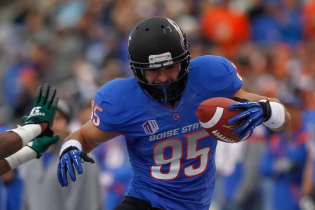 Boise State Tight End Huff Is 'Hungry': And Searching for More