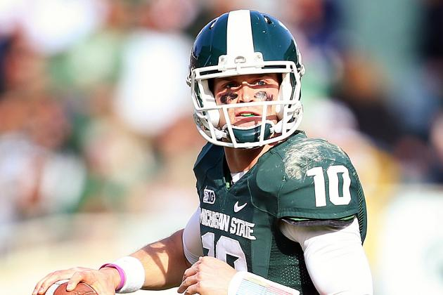 Three Michigan State Quarterbacks Get First-Team Reps in Spring Drills