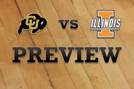 Colorado vs. Illinois: Full Game Preview