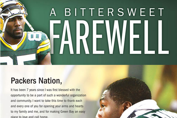 Greg Jennings Thanks Packers Fans in Newspaper Ad