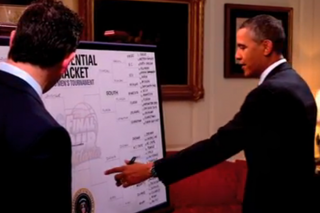 President Barack Obama Breaks Down 2013 NCAA Tournament Bracket